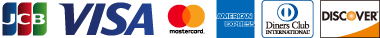 JCB VISA MASTERCARD AMERICAN EXPRESS DINERSCLUB DISCOVER