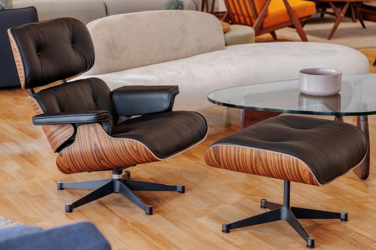 E-comfort イームズ ラウンジチェア&オットマン ローズウッド | 設置例