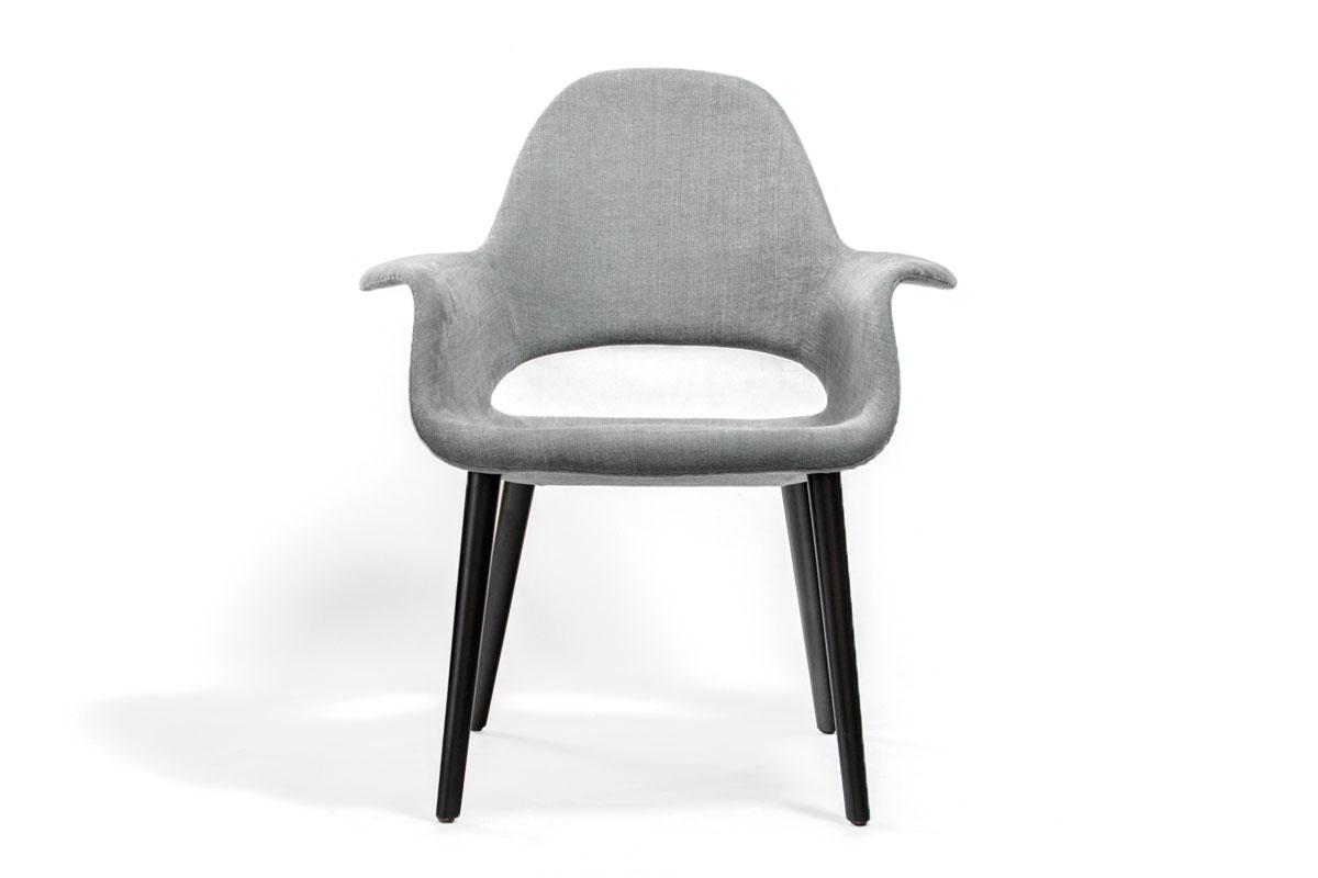 E-comfort オーガニックチェア<br>ビーチ ブラック塗装<br>2Bミディアムグレー サーリネン&イームズ