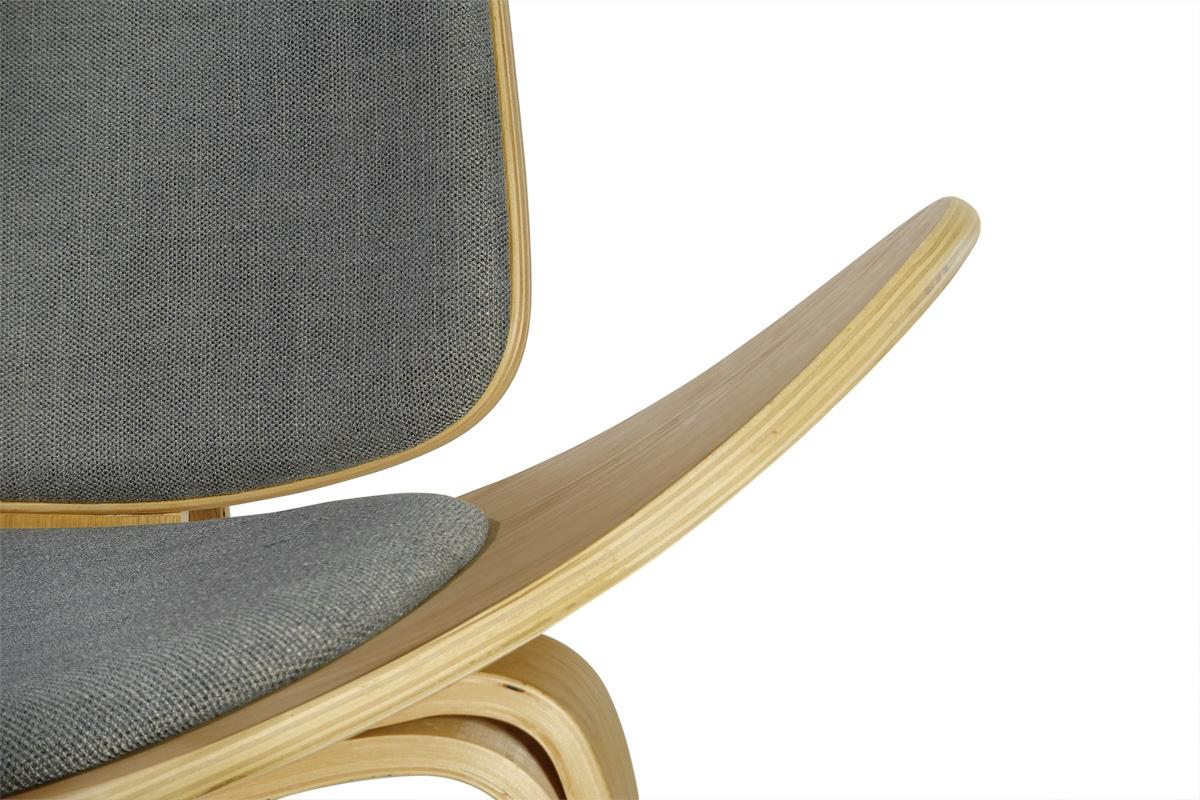 E-comfort スリーレッグドチェア オーク 3Bミディアムグレー |