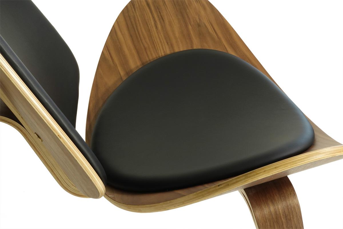 E-comfort スリーレッグドチェア ウォールナット |