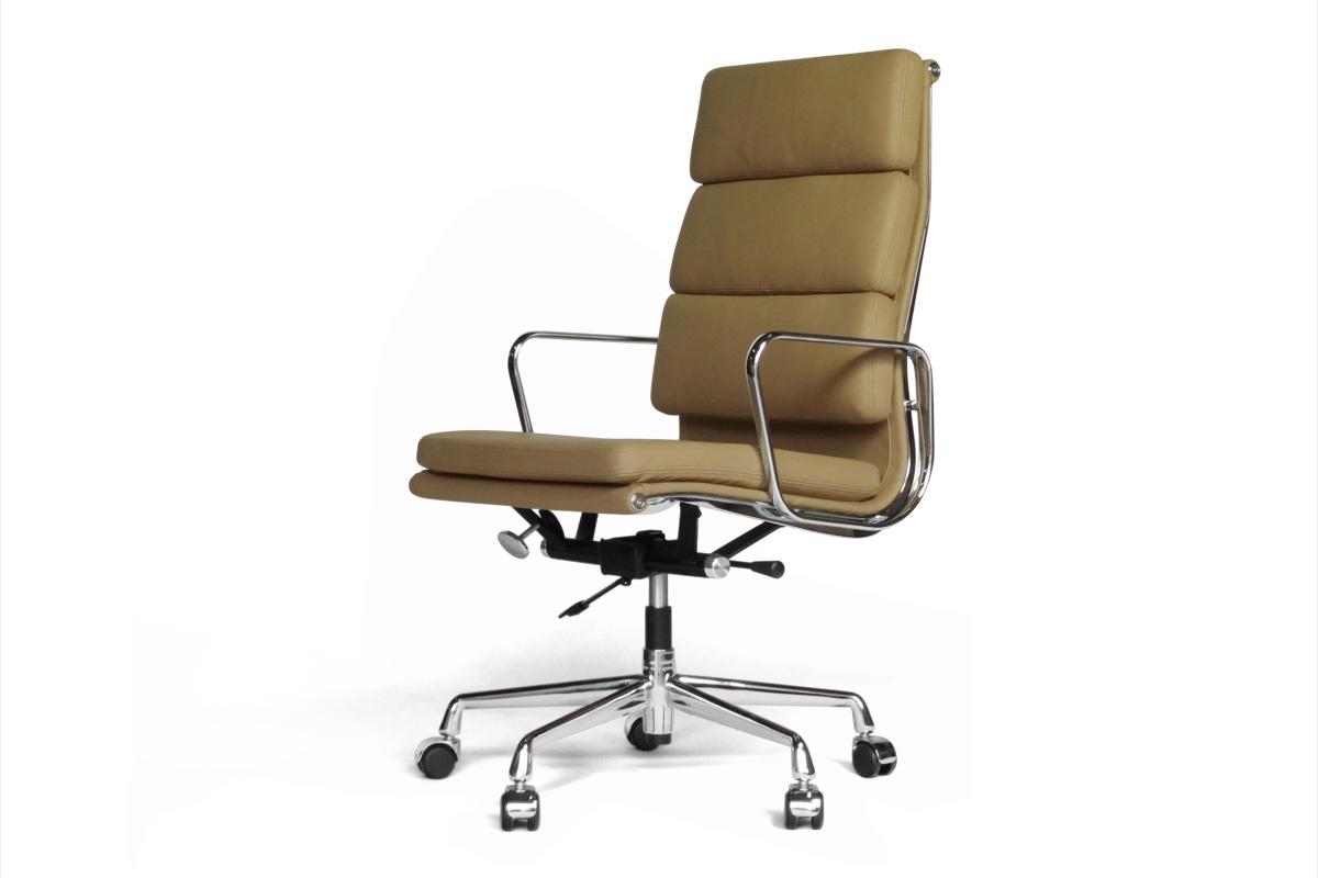 E-comfort アルミナムチェア エグゼクティブチェア ソフトパッド 本革 /キャスター仕様 |