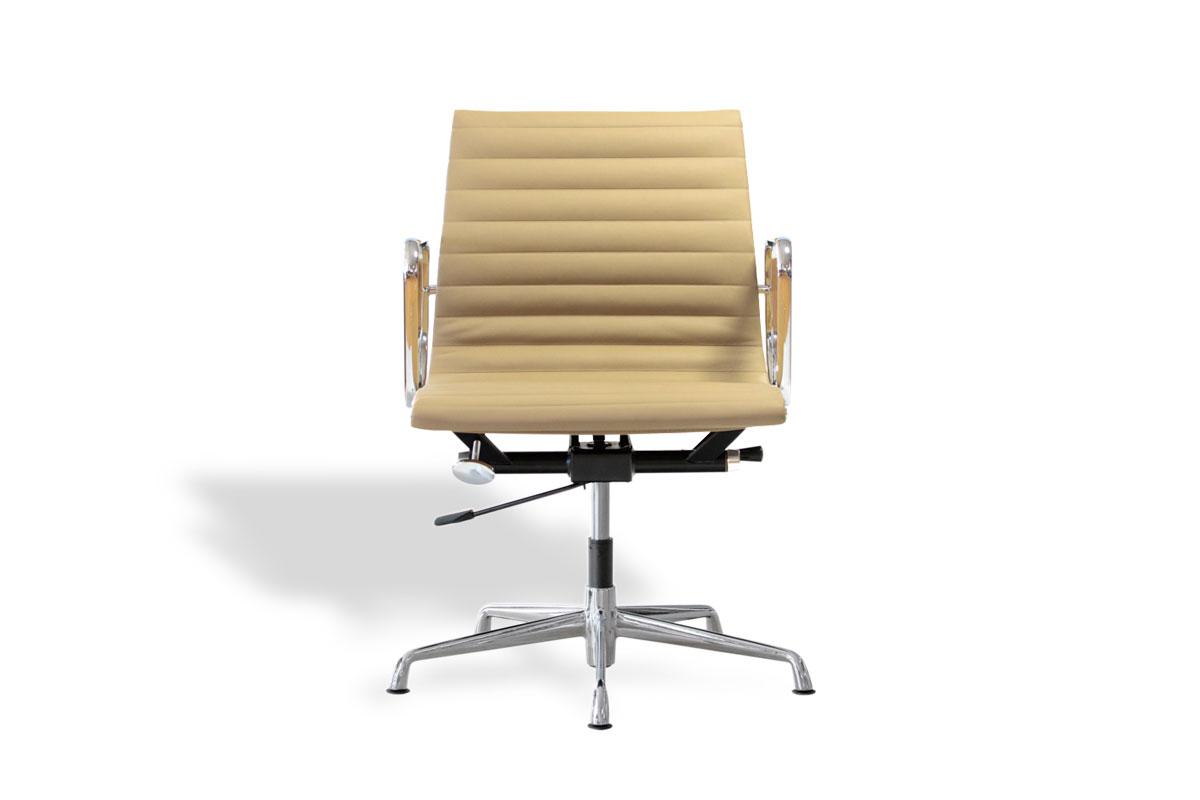 E-comfort アルミナムチェア マネジメントチェア フラットパッド 本革 /グライズ仕様 |