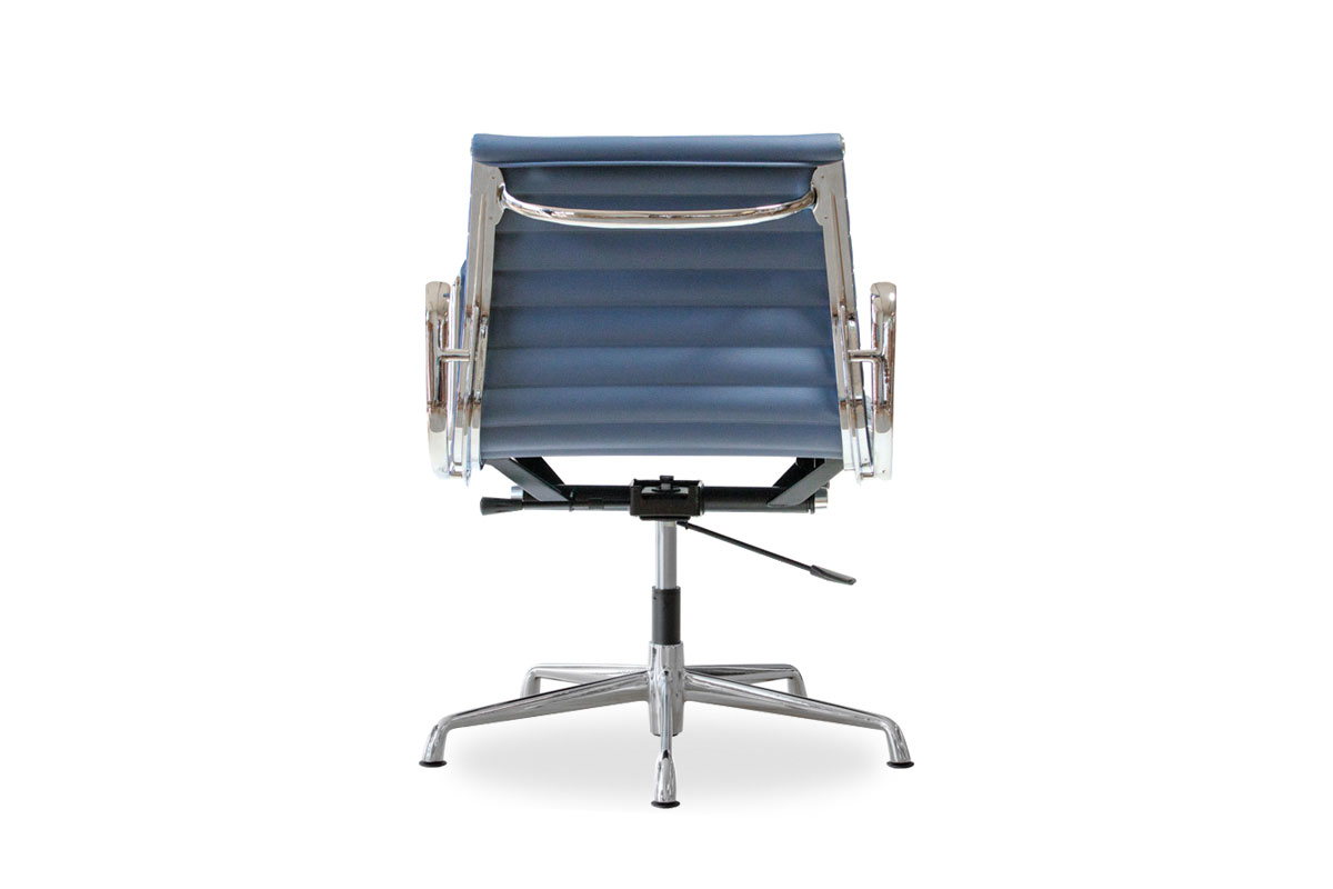 E-comfort アルミナムチェア マネジメントチェア フラットパッド PUレザー /グライズ仕様  