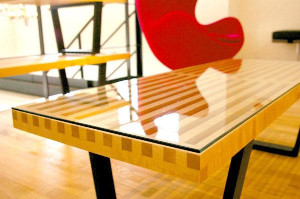 E-comfort ネルソンベンチ プラットフォームベンチ 122cm 専用ガラス天板 | アップ