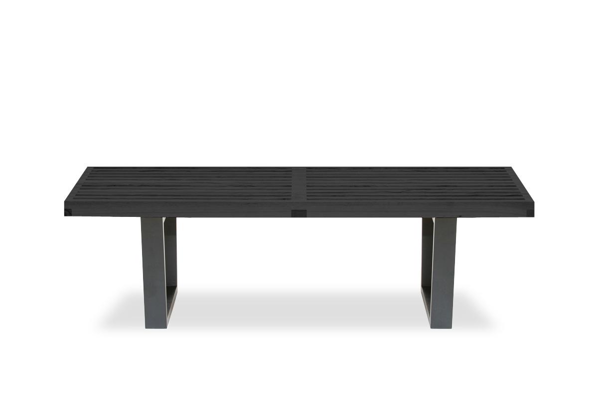 E-comfort ネルソンベンチ プラットフォームベンチ 122cm<br>アッシュ ブラック塗装