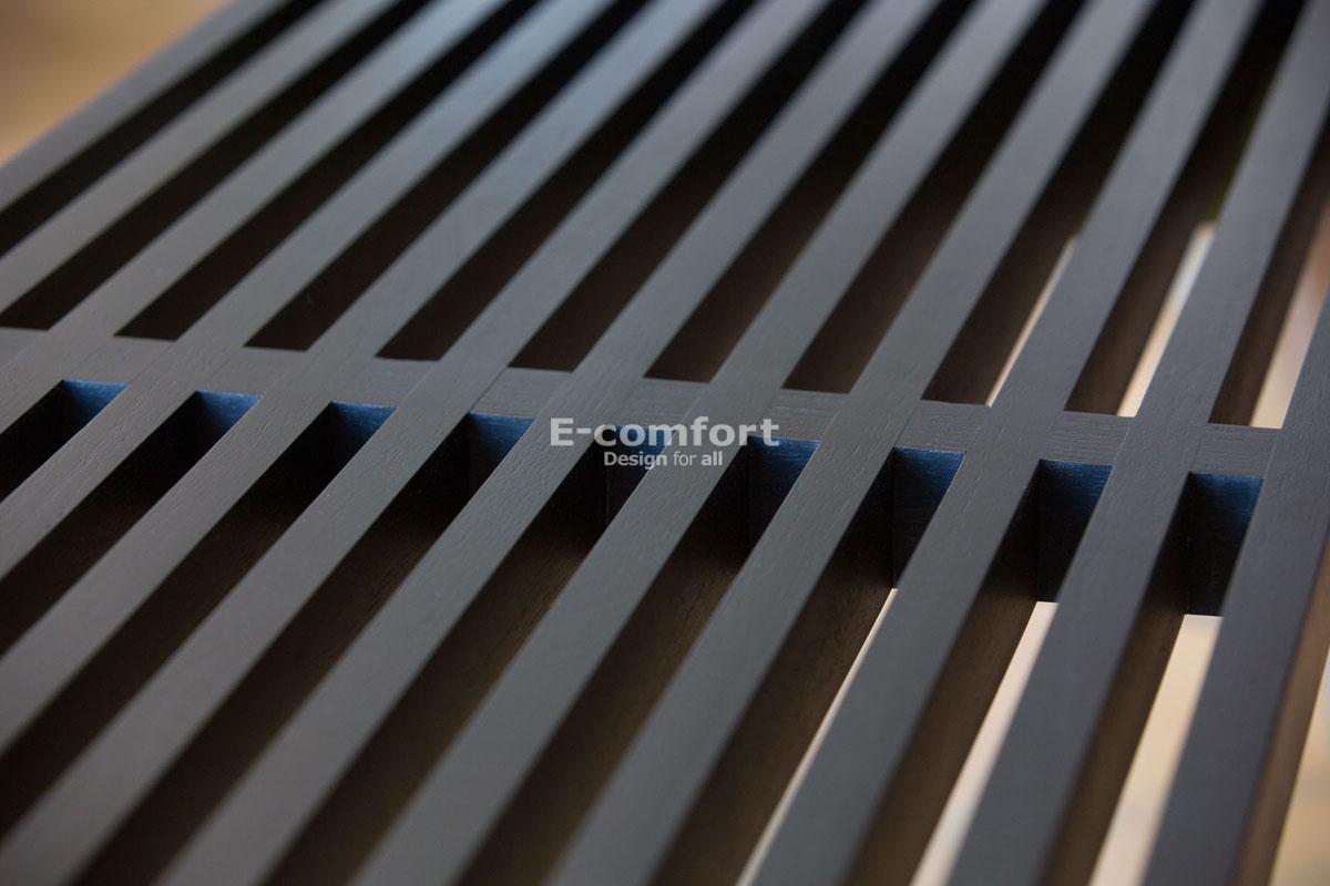 E-comfort ネルソンベンチ プラットフォームベンチ 122cm アッシュ ブラック塗装 | アップ