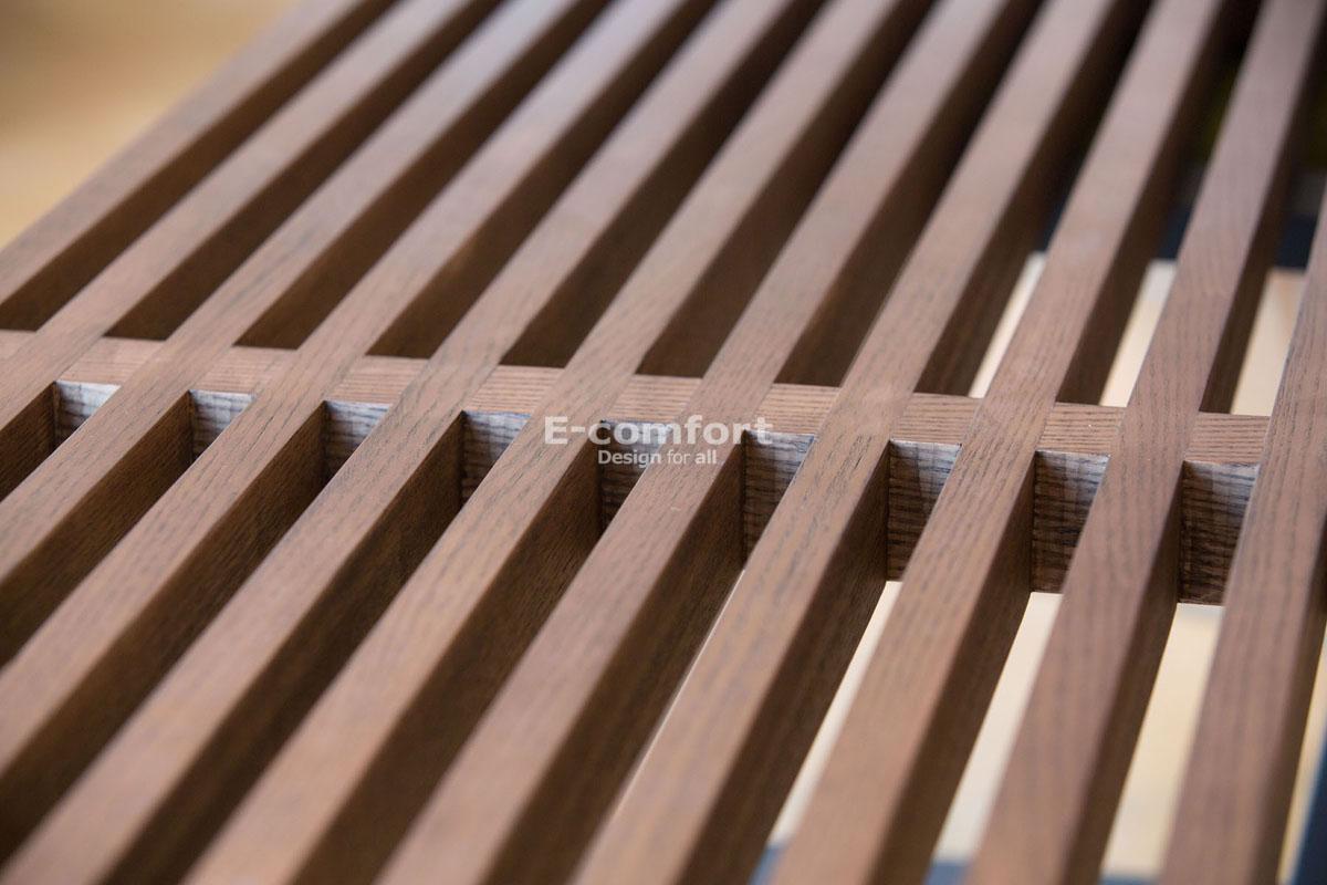 E-comfort ネルソンベンチ プラットフォームベンチ 122cm アッシュ ブラウン塗装 | アップ