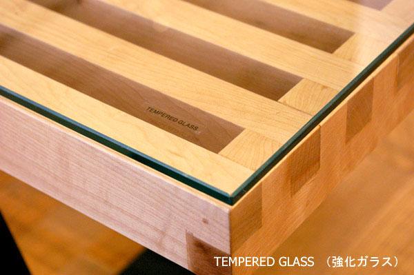 E-comfort ネルソンベンチ プラットフォームベンチ 152.5cm 専用ガラス天板 | アップ