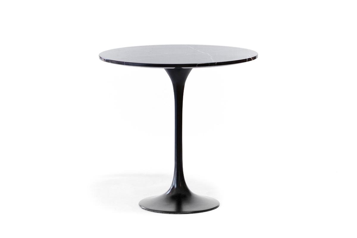 E-comfort チューリップコーヒーテーブル ラウンドサイドテーブル<br>大理石ブラック
