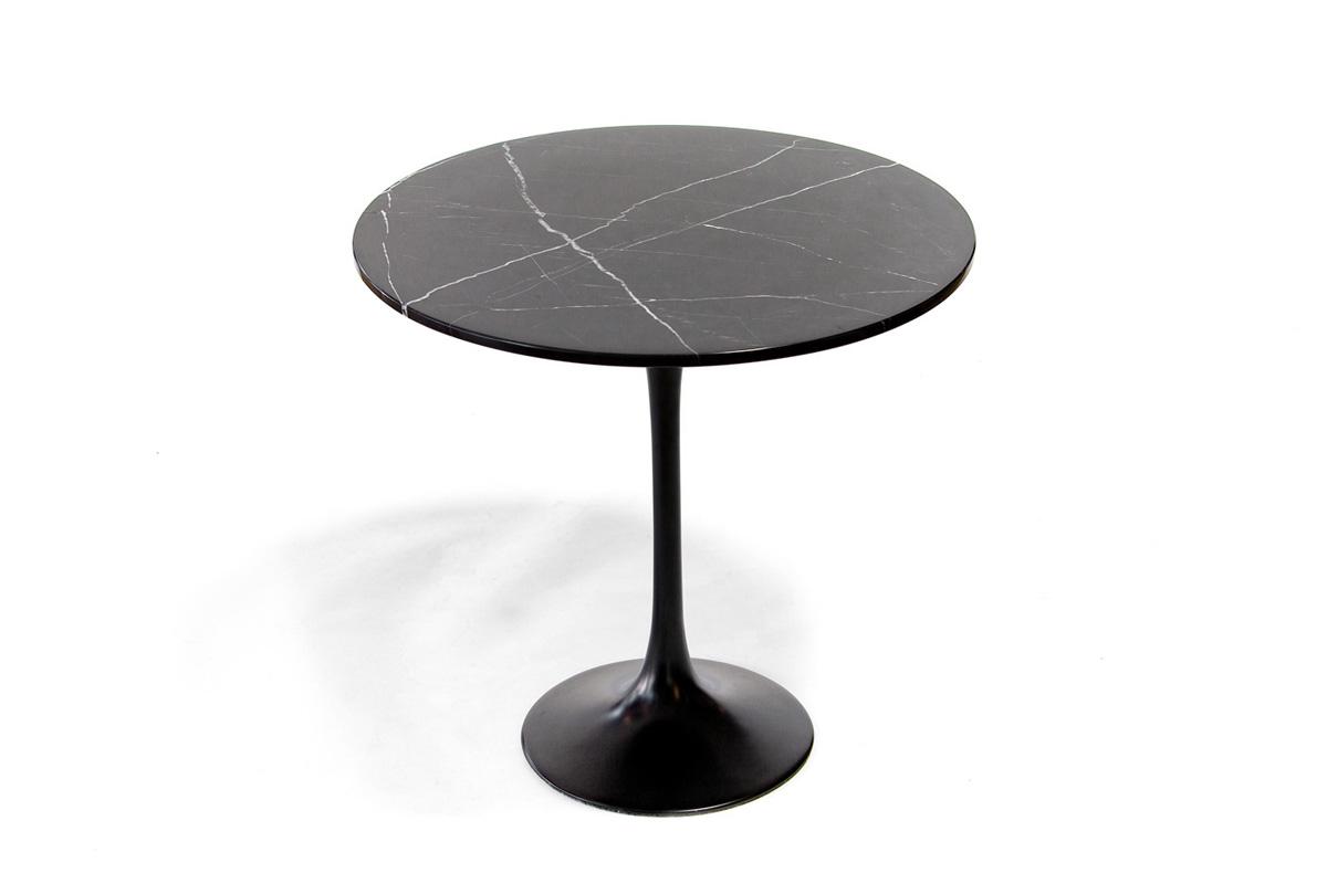 E-comfort チューリップコーヒーテーブル ラウンドサイドテーブル 大理石ブラック |