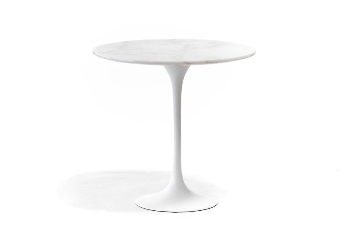 E-comfort チューリップコーヒーテーブル ラウンドサイドテーブル<br>大理石ホワイト