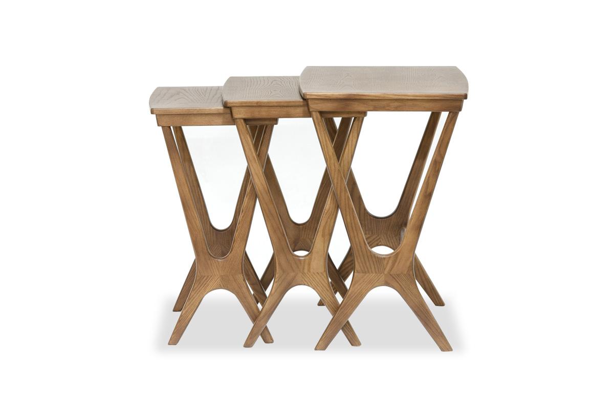 E-comfort No.20 ネストテーブル ウォールナット | 横