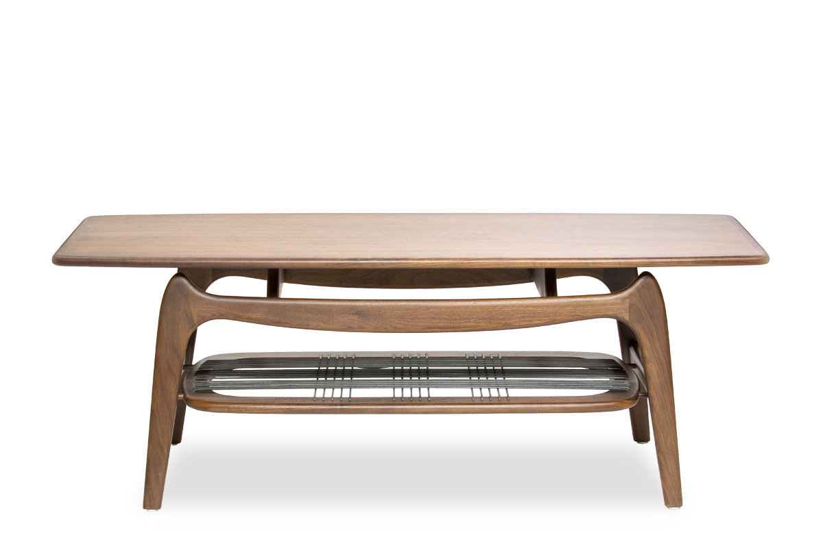 E-comfort 9348 ローテーブル ウォールナット | 正面