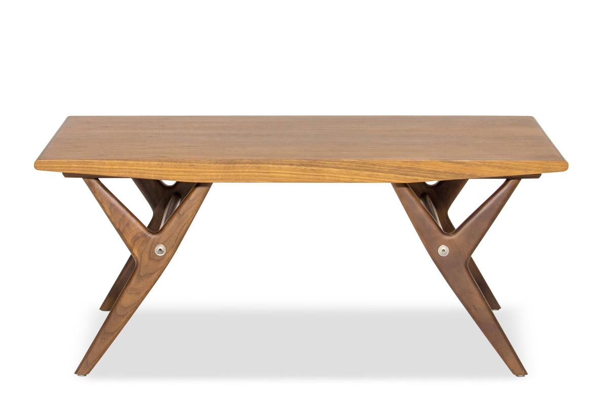 E-comfort 9520ローテーブル 100cm ウォールナット | 正面