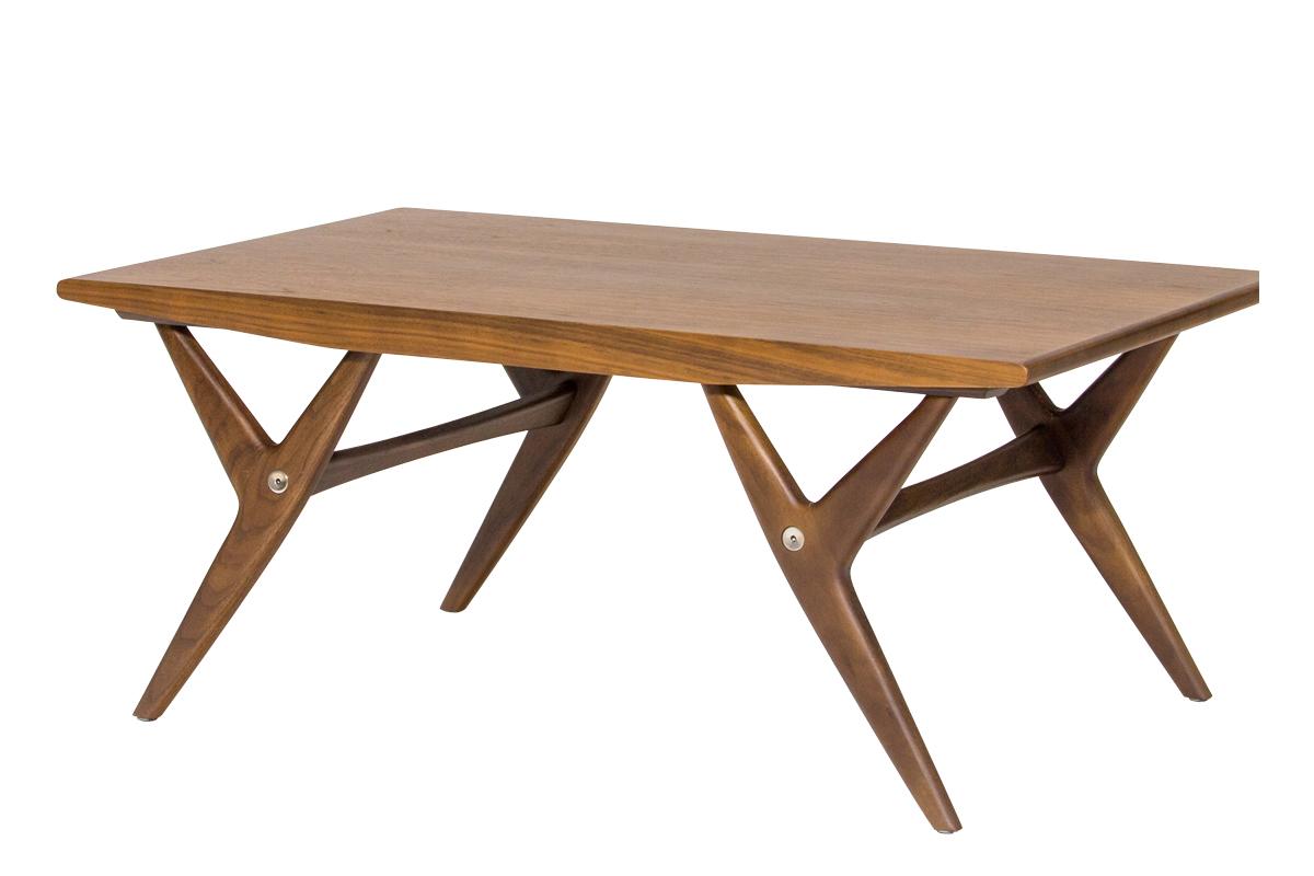 E-comfort 9520ローテーブル 100cm ウォールナット | 斜め前