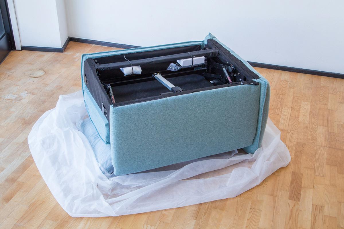 E-comfort 電動リクライニングソファ 2.5p ダークブルー | 内部