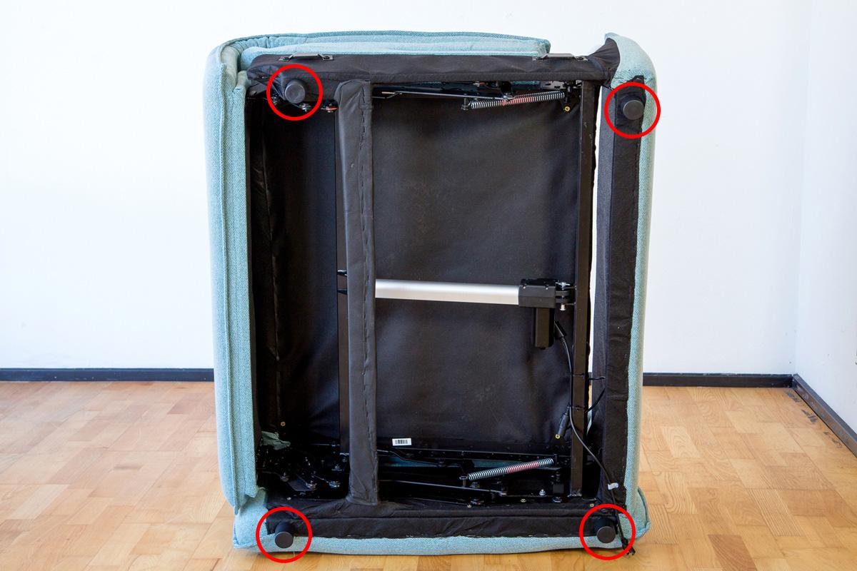 E-comfort 電動リクライニングソファ 2.5p ダークブルー | 底