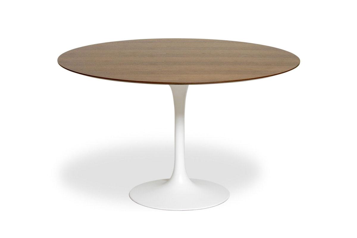 E-comfort チューリップダイニングテーブル ウッド 122 ウォールナット | 斜め上