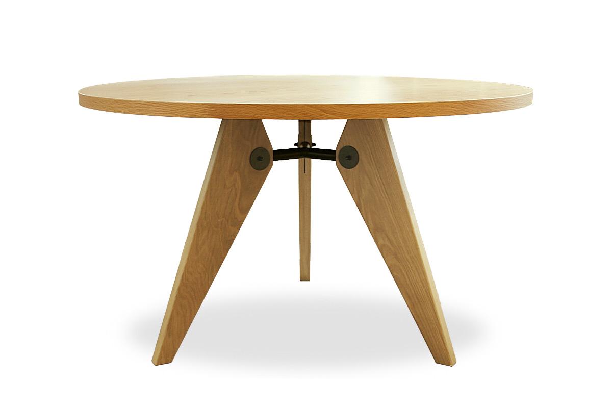 E-comfort ゲリドン テーブル Φ120 オーク | 正面