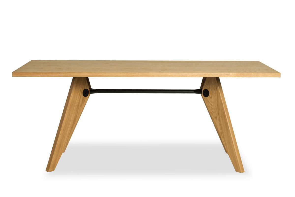 E-comfort ソルベイ テーブル 180cm オークxオーク | 正面