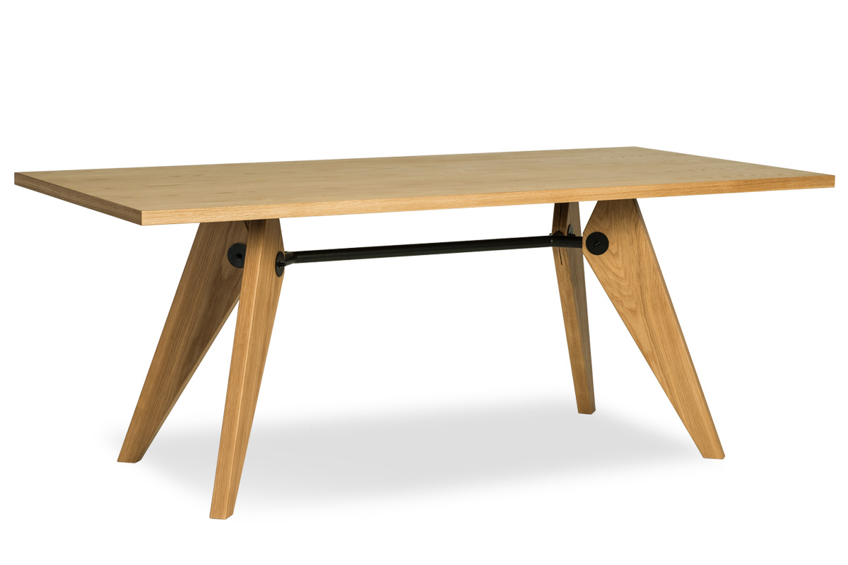 E-comfort ソルベイ テーブル 180cm オークxオーク | 斜め前