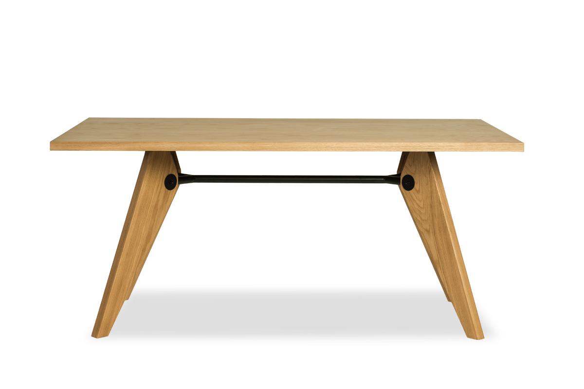 E-comfort ソルベイ テーブル 150cm オークxオーク | 正面