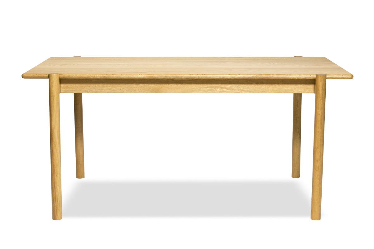 E-comfort アンドラ 丸脚ダイニングテーブル 160cm オーク | 正面