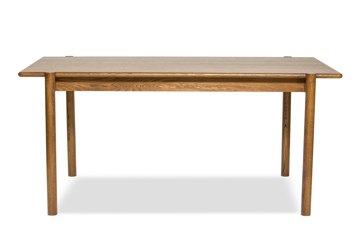 E-comfort アンドラ 丸脚ダイニングテーブル 160cm オーク ブラウン塗装 | 正面