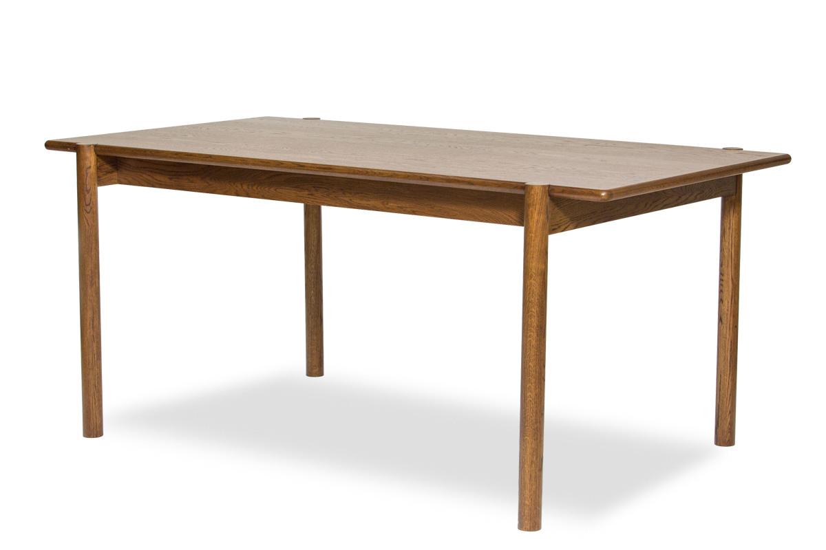 E-comfort アンドラ 丸脚ダイニングテーブル 160cm オーク ブラウン塗装 | 斜め前
