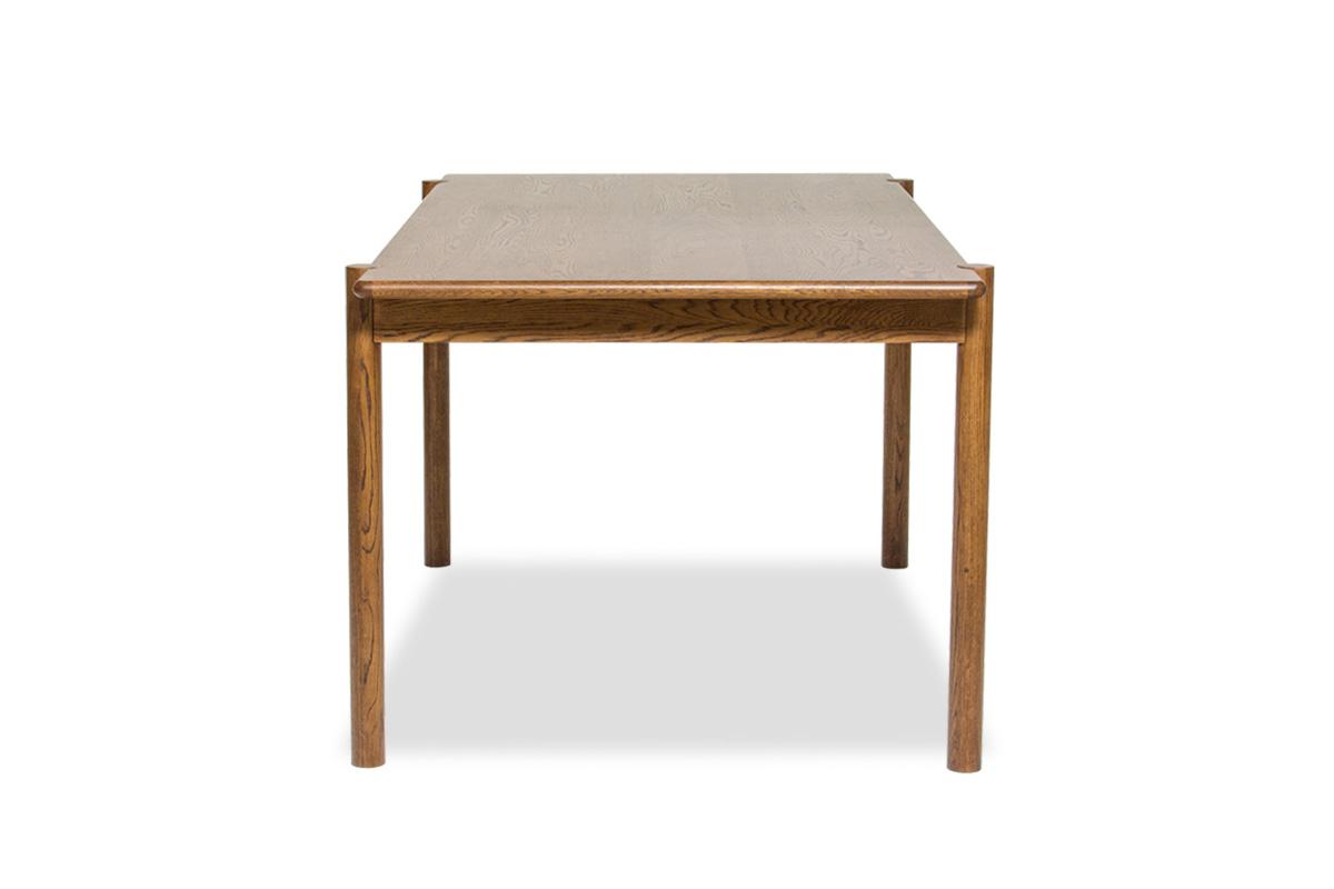 E-comfort アンドラ 丸脚ダイニングテーブル 160cm オーク ブラウン塗装 | 横