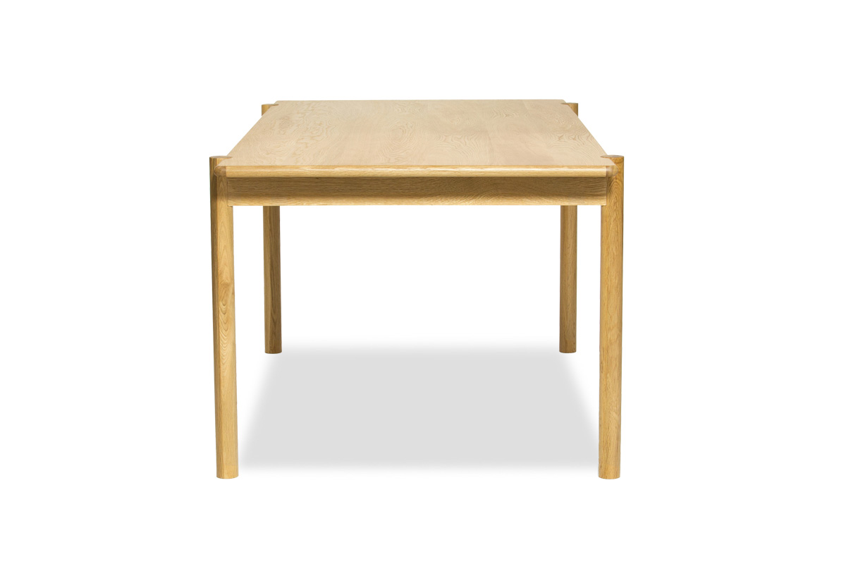 E-comfort アンドラ 丸脚ダイニングテーブル 160cm オーク | 横