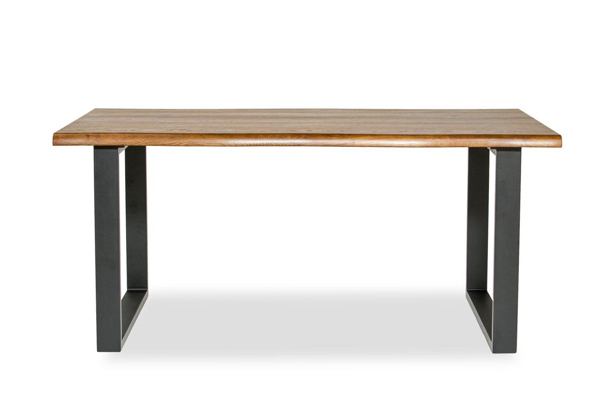 E-comfort ロッテルダム テーブル 160cm オーク ブラウン塗装 | 正面