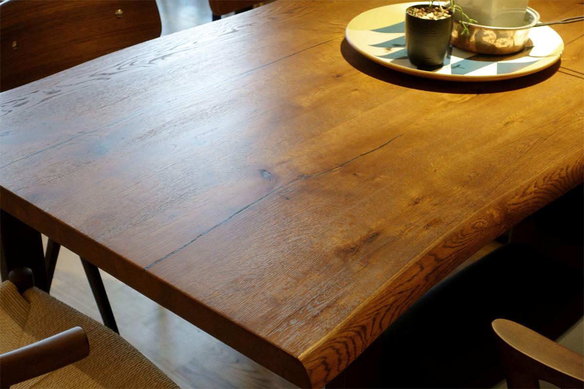 E-comfort ロッテルダム テーブル 160cm オーク ブラウン塗装 |
