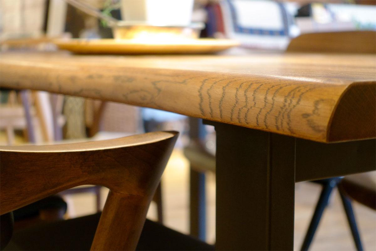E-comfort ロッテルダム テーブル 160cm オーク ブラウン塗装 | 天板UP ※写真は180cmタイプです