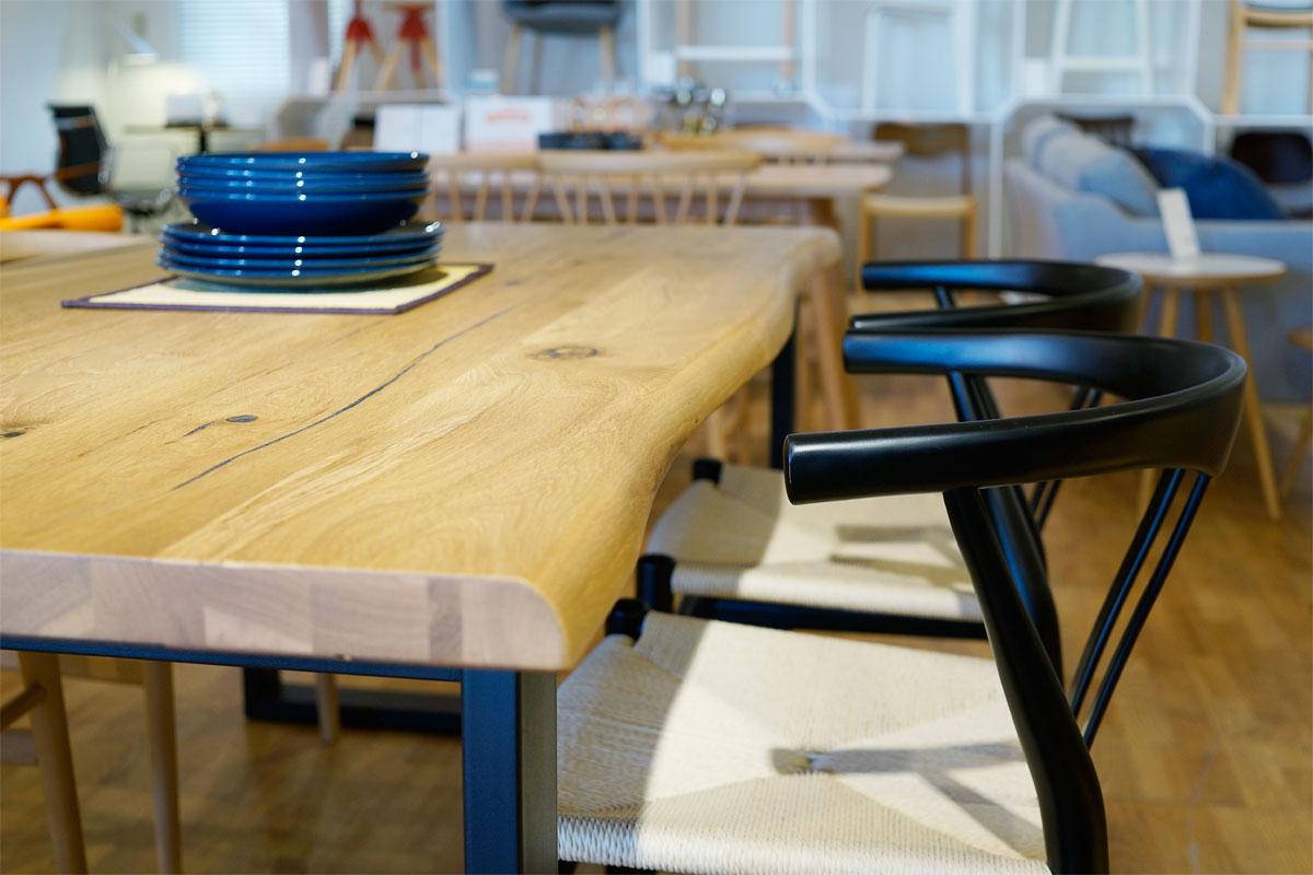 E-comfort ロッテルダム テーブル 160cm オーク | 天板UP ※写真は180cmタイプです