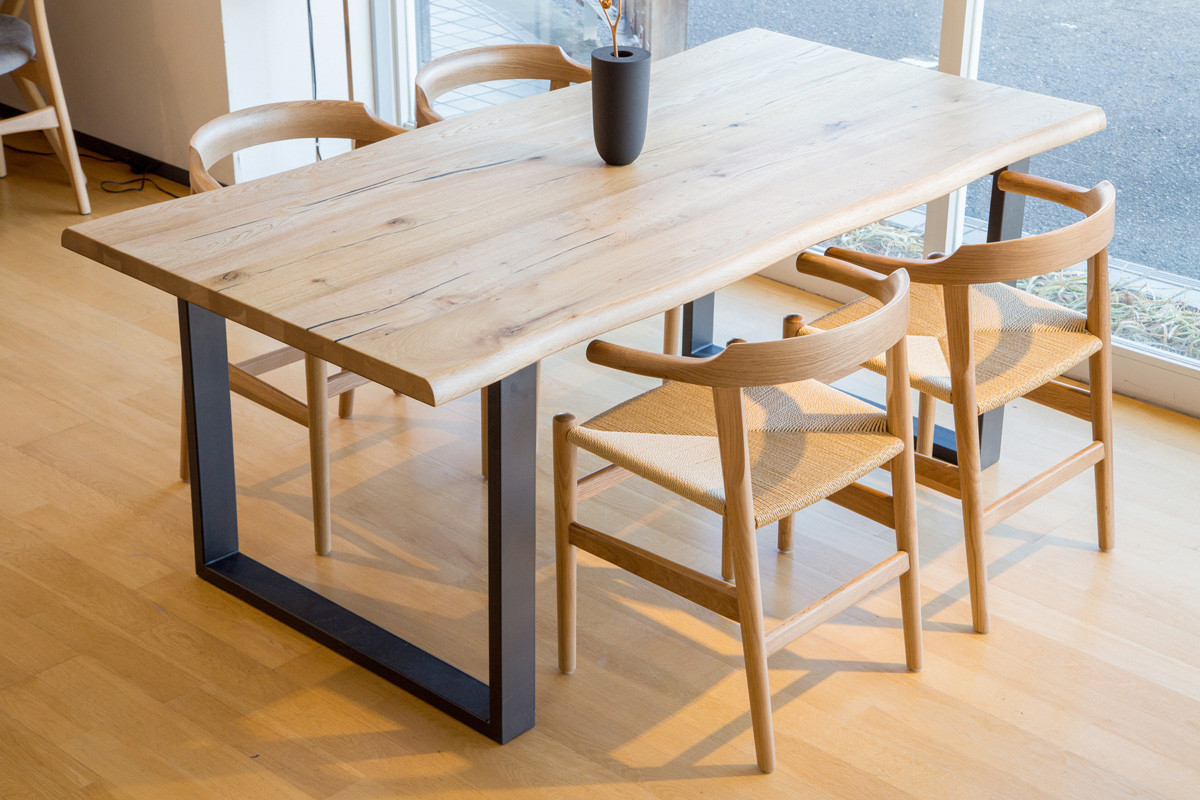 E-comfort ダイニングテーブル[5点セット] ロッテルダムテーブルw180+PP68チェア |