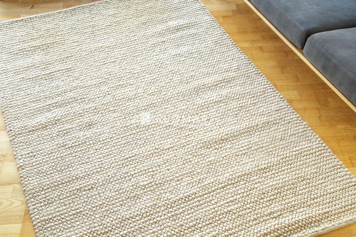 E-comfort ウール ループ シャギー チェリー 140x200cm ベージュ