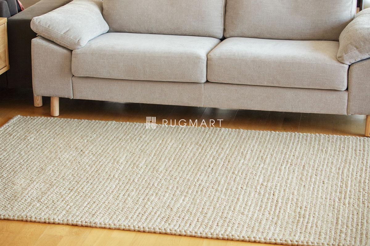 E-comfort ウール ループ シャギー チェリー 140x200cm ベージュ |