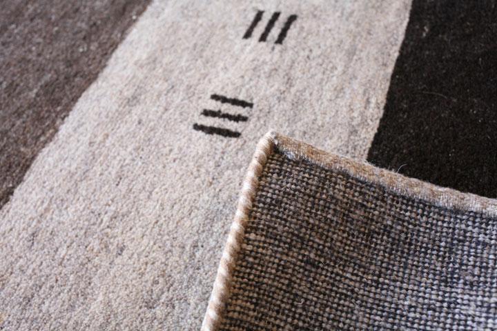 E-comfort ギャッベ DETAIL No.12 230x160cm  ナチュラルミックス |