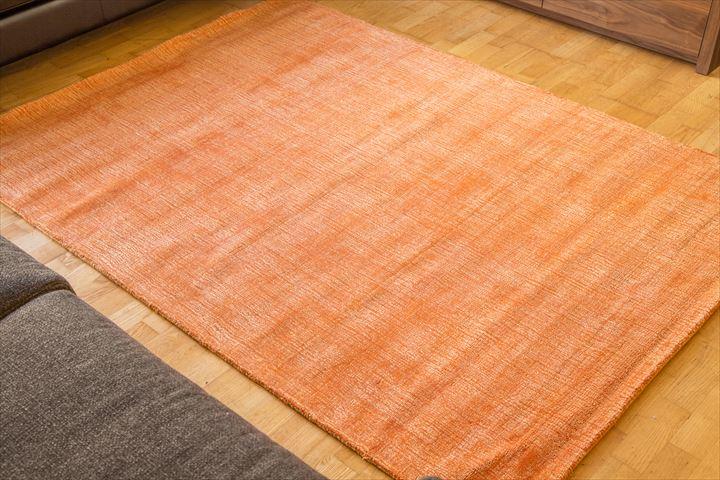 E-comfort 手織りラグ ダイナスティー アンティーク 200x140cm オレンジ