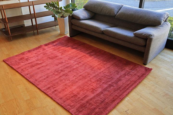 E-comfort 手織りラグ ダイナスティー アンティーク 230x160cm レッドピンク