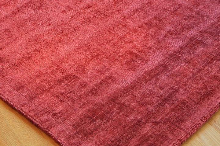 E-comfort ハンドルーム コットン&ヴィスコース DYNASTY ANTIQUE  230x160cm  レッドピンク |