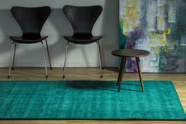 E-comfort 手織りラグ ダイナスティー アンティーク 230x160cm ターコイズ