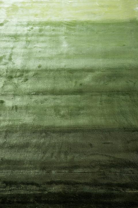 E-comfort グラデーションラグ フェード ストライプ 200x140cm グリーン |