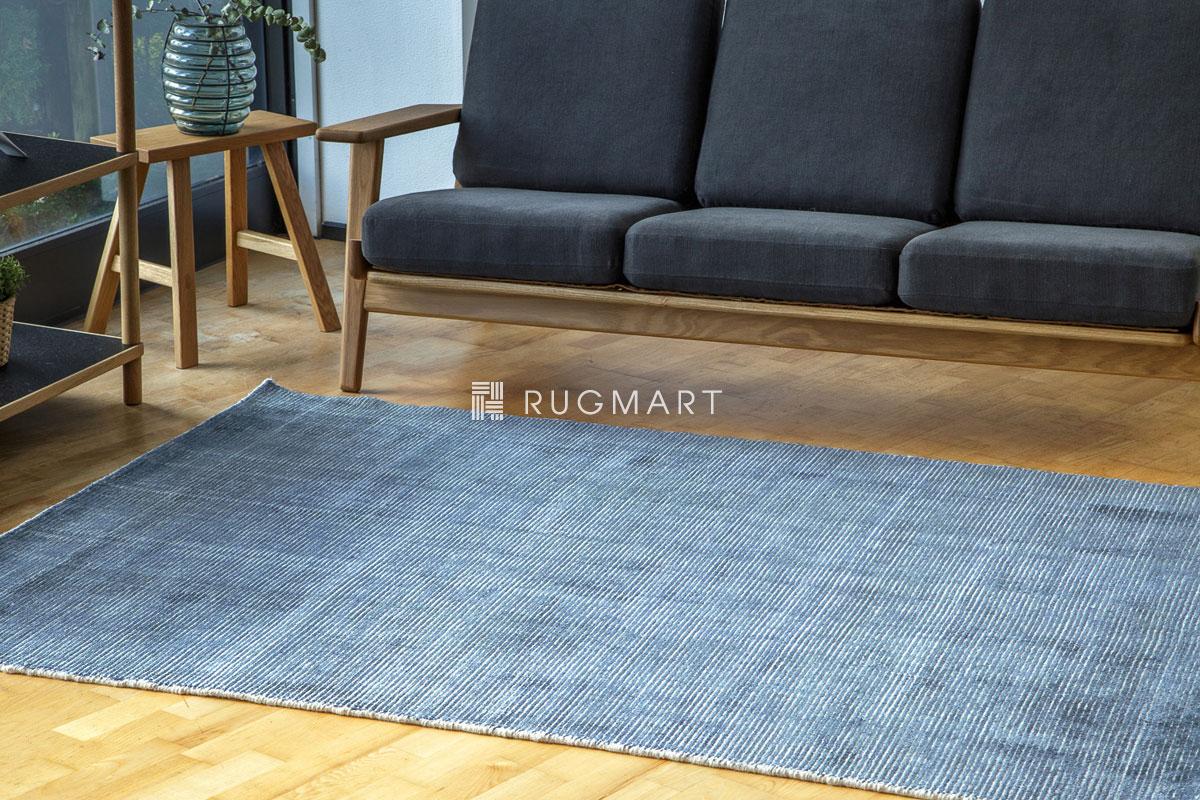 E-comfort ハンドルーム ノッテッド ウール&ヴィスコース FINESTO 160x230cm フロスティーデニム
