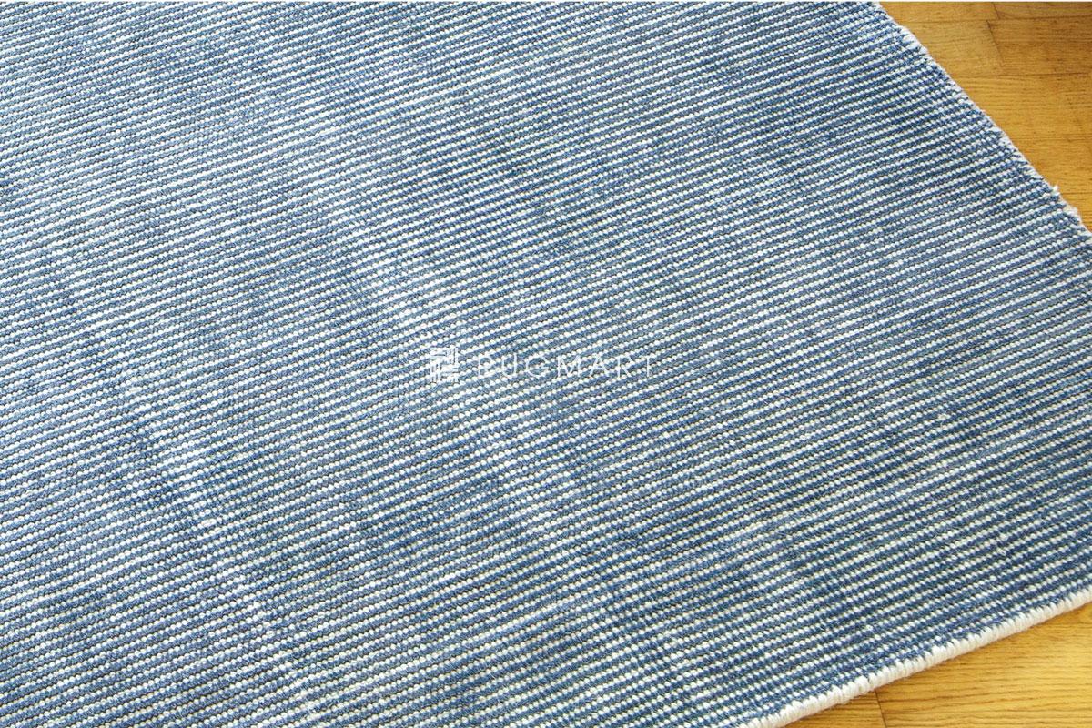 E-comfort ハンドルーム ノッテッド ウール&ヴィスコース FINESTO 160x230cm フロスティーデニム |