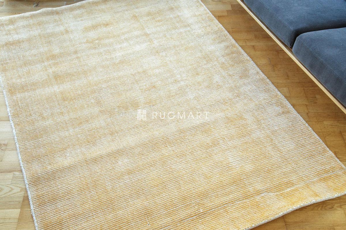 E-comfort ハンドルーム ノッテッド ウール&ヴィスコース FINESTO 140x200cm ハニーゴールド