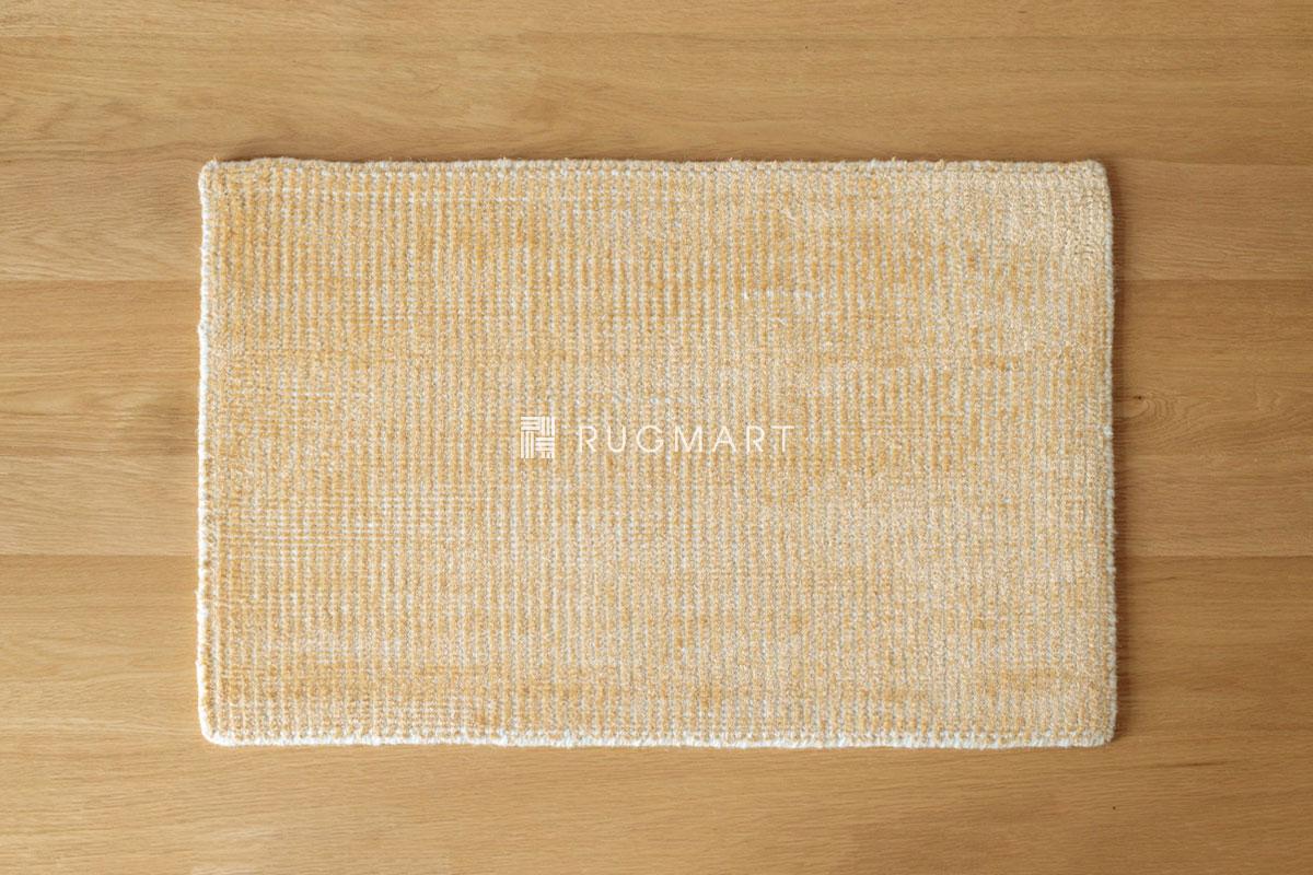 E-comfort ハンドルーム ノッテッド ウール&ヴィスコース FINESTO 40x60cm ハニーゴールド