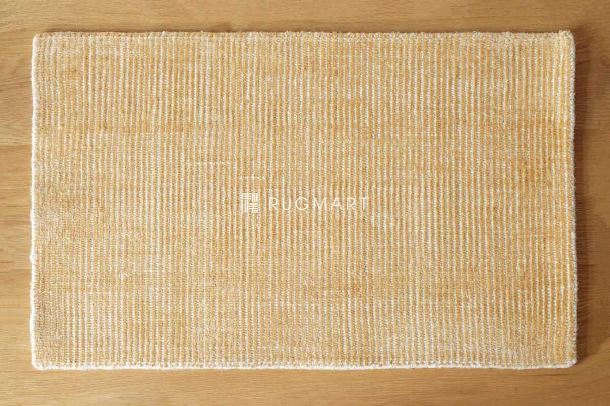 E-comfort ハンドルーム ノッテッド ウール&ヴィスコース FINESTO 50x80cm ハニーゴールド